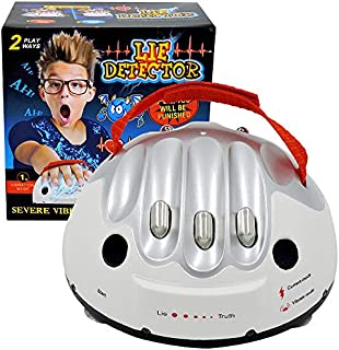 JULAN Upgrade Micro Electric Shocking Lie Detector, Tricky Novelty Game Interesting Polygraph Test Truth Or Dare Game for ...