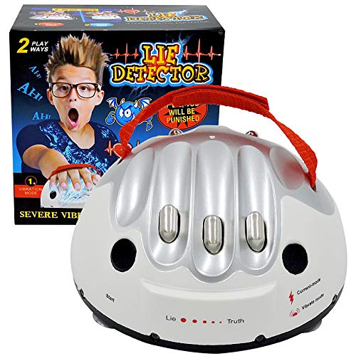 JULAN Upgrade Micro Electric Shocking Lie Detector, Tricky Novelty Game Interesting Polygraph Test Truth Or Dare Game for Party Analyzer Consoles Gifts
