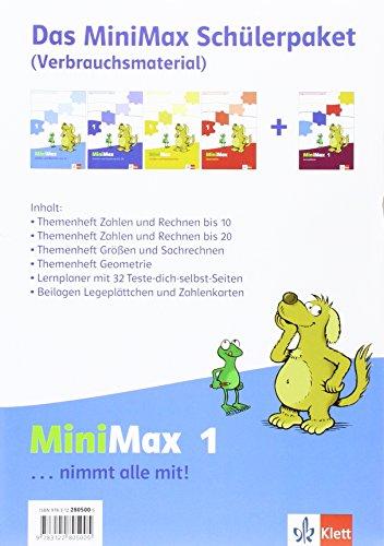 MiniMax 1: Schülerpaket (4 Themenhefte + Lernplaner) - Verbrauchsmaterial Klasse 1: Enthält 3 Arbeitshefte und 1 Lernplaner und Wendeplättchen (MiniMax. Allgemeine Ausgabe ab 2014)