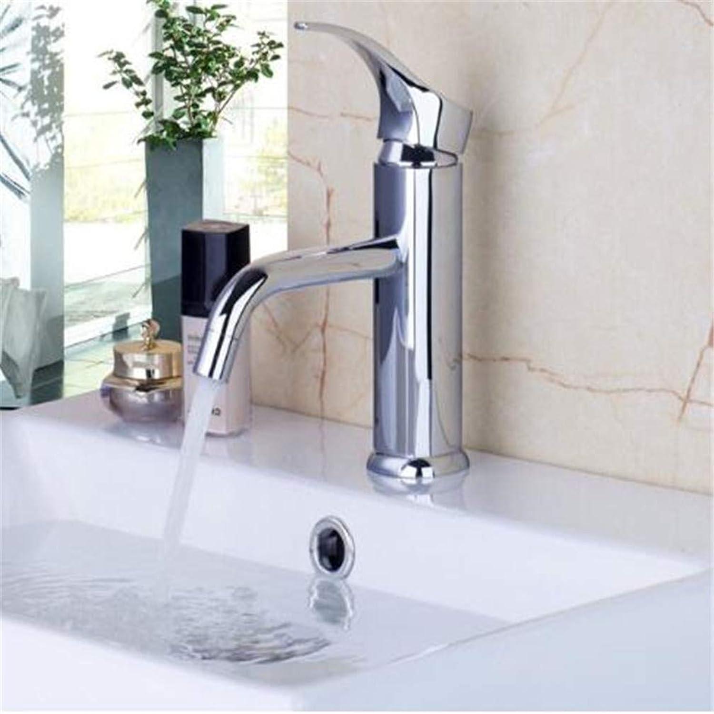 Oudan Bathroom Taps Basin Mixer Taps Bathroom Faucet Sink Tapsbathroom Faucet Short Basin Mixer Bathtub Chrome Solid Brass Single Handle Deck Mounted Mixer Tap Faucets (color   -, Size   -)