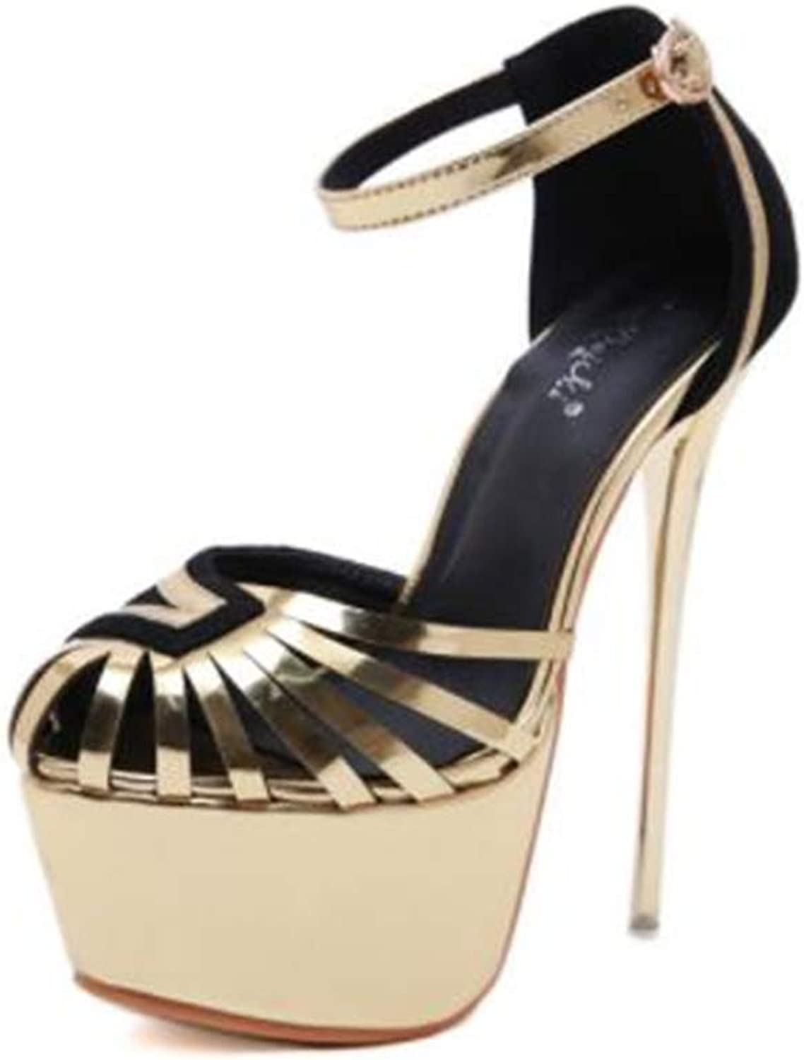 Cloudless Women's High Heels Sandals with Ankle Strappy Clear Chunky Heels Dress Party Pumps shoes