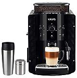 Krups Kaffeevollautomat Arabica Picto 15 bar 1450 W EMSA Travel Mug Edelstahl Kakaostreuer (automatische Reinigung, 2-Tassen-Funktion, Milchsystem mit CappucinoPlus-Düse, Kaffeemaschine, Espresso