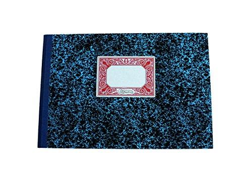 Miquelrius - Libro de Contabilidad, Folio Apaisado, Cartoné Rayado Horizontal, 100 hojas (sin numerar)