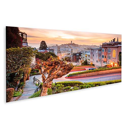 Cuadros Decoracion Salon Modernos Famosa Calle Lombard en San Francisco al Amanecer TYG