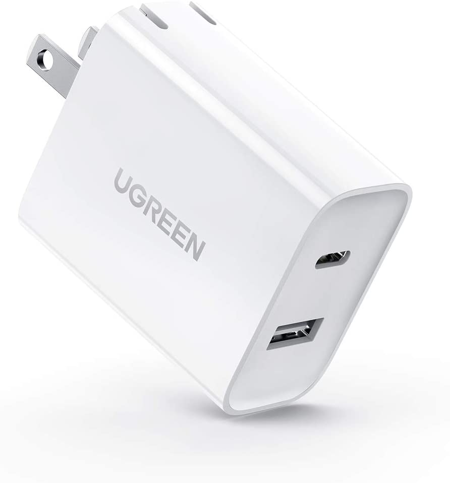 UGREEN USB C Charger 30W 2-Port with 18W PD Wall Fast Charger for iPad Pro, Galaxy Note20 S20 S10 S9, iPhone 12 Mini 12 Pro Max 11 Pro Max XR, Pixel, Nintendo Switch