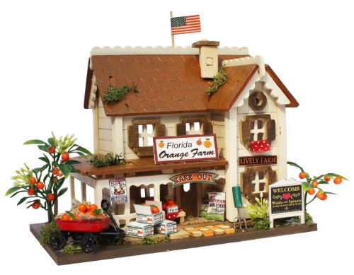 Billy Handmade dollhouse kit The Woody house collection Orange farm 8813 by Billy 55
