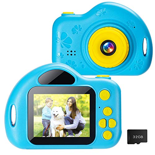 Taoist Kids Camera with 1080P 2 Inch IPS Screen ,HD Digital Video Cameras Toys for Toddler, Camera Camcorder for Children,Best Gifts for 3 4 5 6 7 8 9 10 Years Old Girls Boys with 32GB SD Card (Blue)