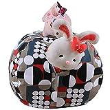 MRXUE Kinder Plüsch-Spielzeug-Aufbewahrungsbeutel Bean Bag Speicher Für Weiches Spielzeug