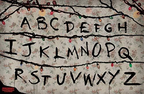 Theissen Stranger Things R, U, N Poster, Multi-Colour - Matte Poster Frameless Gift 11 x 17 inch(28cm x 43cm)*IT-00236