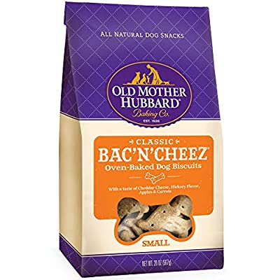 Old Mother Hubbard Classic Bac'N'Cheez Biscuits Baked Dog Treats, Small, 20 Ounce Bag