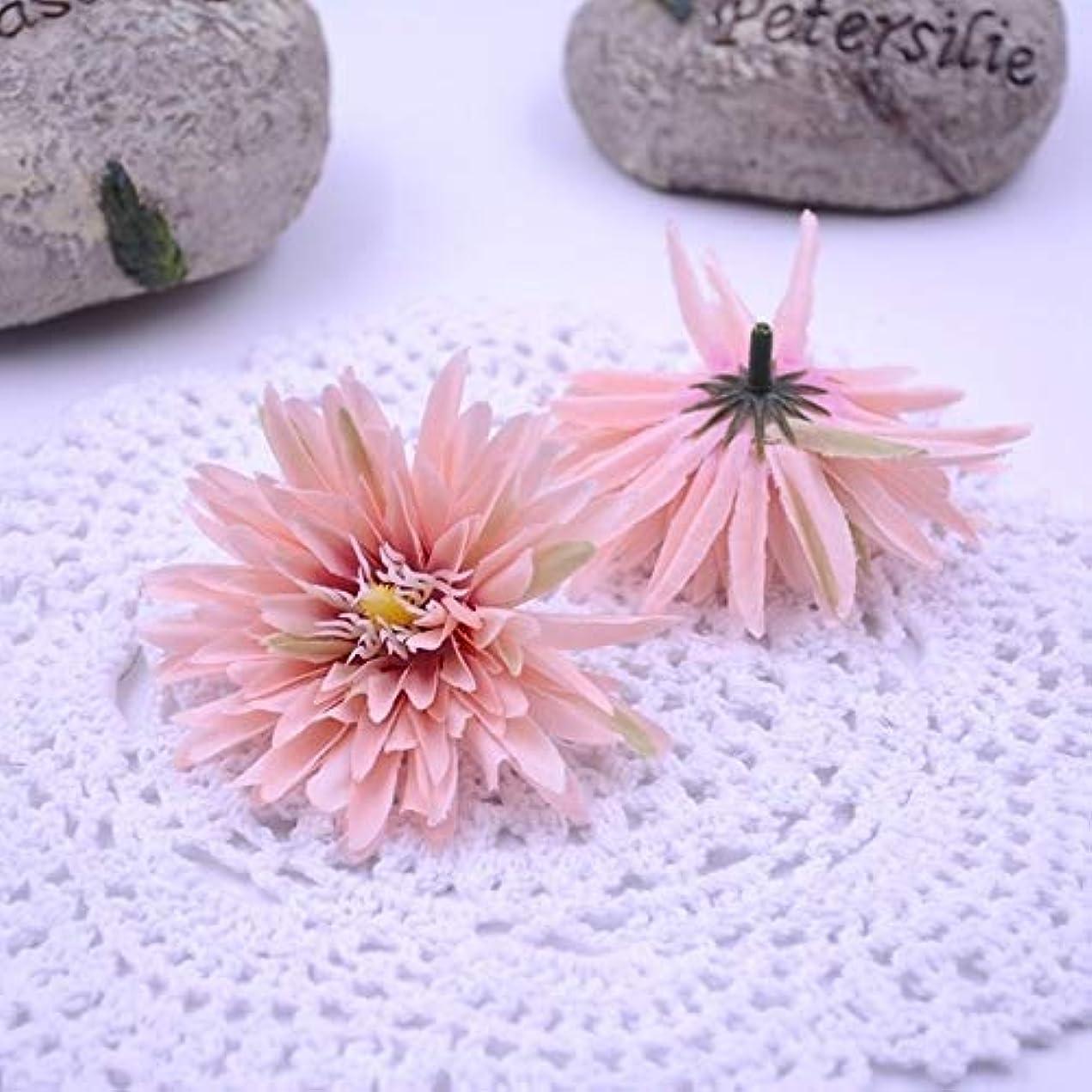 リングチャーミングフィヨルドガーデンFolwers 10 PCSシミュレーション布菊の花の結婚式の家の花瓶の装飾DIYの花輪の花 (色 : ピンク)