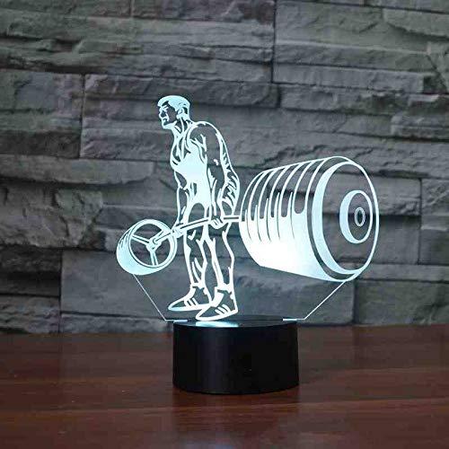 RJGOPL 3D tafellamp, leds, 7 kleurrijk, nachtlampje, nachtlampje, nachtlampje, nachtlampje, nachtlampje, lamppara, slaapkamer, decoratie, cadeau op afstand