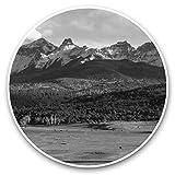Pegatinas de vinilo impresionantes (juego de 2) 25 cm BW – Cattle Ranch Colorado USA Fun calcomanías para portátiles, tabletas, equipaje, chatarra de reservas, neveras, regalo fresco #38985