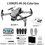 ETbotu Mini drone GPS Drone 4 K Camera x50 Zoom 5 G WiFi 1 km Distance 25 minutes Quadcopter RC Hélicoptère Drone professionnel pour selfie Boîte de couleurs L109 Double batterie