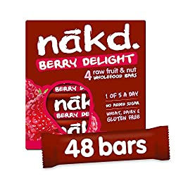 ALL NATURAL – These healthy snack bars are made with 100% natural ingredients, just fruit and nuts smooshed together! GLUTEN FREE – Nakd Berry Delight is a delicious wheat free and gluten free fruit and nut bar. HEALTHY SNACK – One of your five a day...