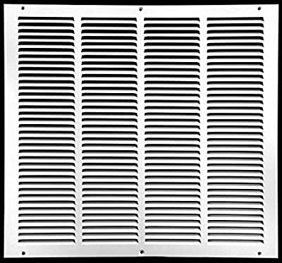 """20""""w X 18""""h Steel Return Air Grilles - Sidewall and Ceiling - HVAC Duct Cover - White [Outer Dimensions: 21.75""""w X 19.75""""h]"""