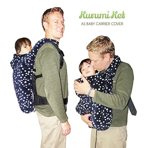 Stroller Cover and Baby Carrier Cover. Double Fleece Winter Cover - Fits Onto All Carriers & Strollers. Adjustable with Hoodie. 5-in-1 Multipurpose. Grey