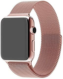 For Apple Watch 42mm - Magnetic Milanese Loop Stainless Steel Band For Apple iWatch 42mm - Rose Gold