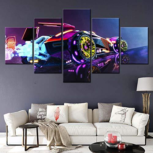 5 Pcs Rocket League Video Game Poster Oil Painting Canvas Painting Wallpaper Home Decor Wall Sticker HD Print Artwork/30x40 30x60 30x80cm (no frame)