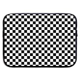 Checkered Flag Computer 13/15 Inch Laptop Sleeve Bag for MacBook Air 11 13 15 Pro 13.3 15.4 Portable Zipper Laptop Bag Tablet Bag,Water Resistant,Black