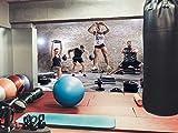 Fotomural Vinilo Pared Gimnasio Body Pump Chico y Chica Pesas | Fotomural para Paredes | Mural | Vinilo Decorativo | Varias Medidas 200 x 150 cm | Decoración comedores, Salones, Habitaciones.