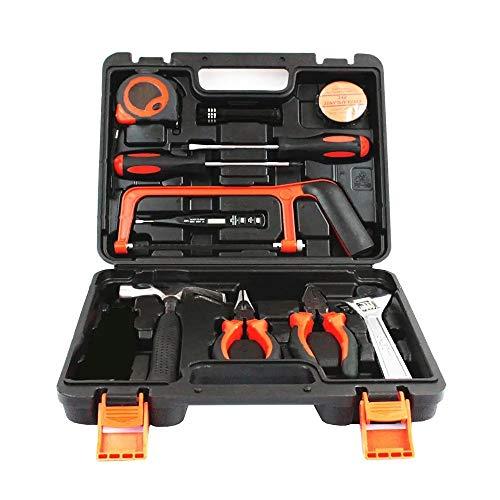 Linterna cortador kit de herramienta de mano de reparación de automóviles sistema de herramienta de hogar del destornillador de la llave de alicates Martillo del alambre con la caja de herramientas 13