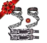 Lifting Straps + Wrist Wraps Bundle (1 PAIR of Each) by Rip Toned