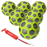 GoSports Elite Futsal Ball 6 Pack - Great for Indoor or Outdoor Futsal Games or Practice – Choose Between Single or Six Pack - Includes Pump