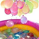 222PCS Water Balloons Wasserballons Wasserbombem Luftballons in 60Sekunden, Selbst verschließend ohne Knoten Wasserballons Kurzzeitig Füllen Kit