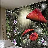 JIAQINLONG Tapiz De Seta Tapiz De Pared Arte Mandala Tela para Colgar En La Pared Decoración Nocturna Alfombra Tapices Techo Decoración De La Habitación 130 * 150Cm