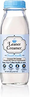 Leaner Creamer French Vanilla Coffee Creamer Powder 9.87oz. Perfect Coconut Oil Non-Dairy French Vanilla Powder To Natural...