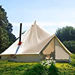 TentHome 4 seasons waterproof cotton bell tent with stove hole on the roof Glamping tent for camping Christmas party 4