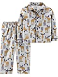 Simple Joys by Carter's Boys' Toddler 2-Piece Coat Style Pajama Set, Moose, 3T