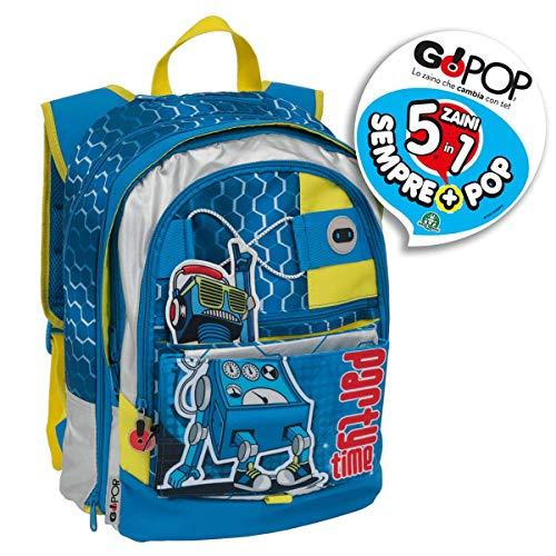 Giochi Preziosi Gopop19 Zaino Estensibile Robot Maschio Zaini Scuola, Multicolore, 8056379074113