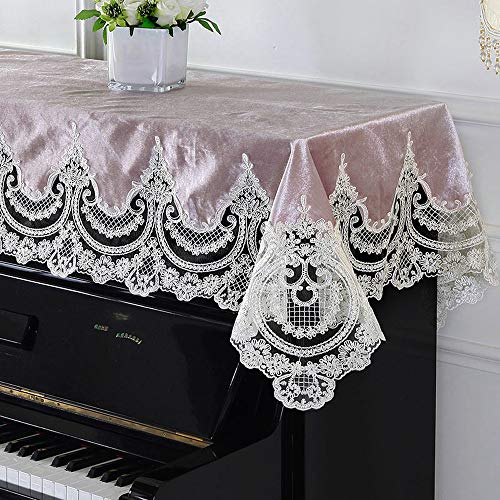 Lowest Prices! BWAM-hom Piano Keyboard Dust Cover Modern Minimalist Piano Half Cloth Cover Lace Pian...