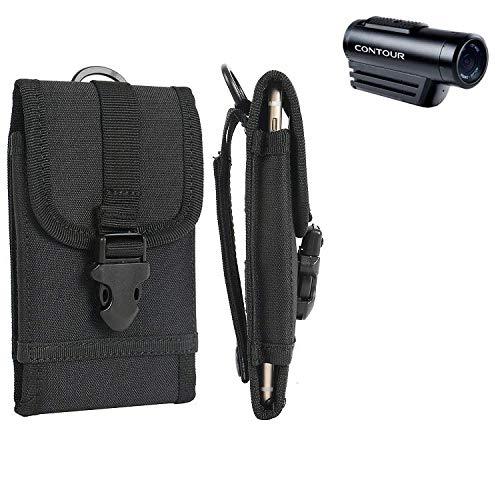 K-S-Trade® Bolsa del Cinturón/Funda para Contour Roam 3, Negro | Caja del Cámara Compacta Cubierta Protectora Bolso
