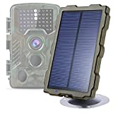Braveking1 Cámara de Caza Panel Solar Trail Game Camera IP66 Impermeable DC 6V / 1500mAh Banco de Energía Solar Cargador Portátil Kit de Instalación Incluido con Cable de Carga USB