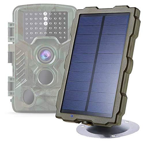 Braveking1 Pannello Solare per Fotocamera Caccia IP56 Impermeabile Fototrappola DC 6V / 1500mAh Caricatore Portatile Banca di Energia Solare, Resistente alle Intemperie, Montaggio Regolabile