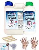 3,2 Kg. I-CRYSTAL RESINA EPOXI Para Manualidades y arte, encapsulados, mejor calidad/precio, resina de curado mas rápido que las standards