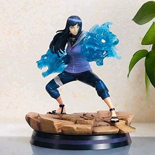 Figuras para niños Modelo Juguetes Figura Naruto Habitación estática Decoración de Mesa Hyūga Hinata Base de Escena de Doble león 27CM Figura de acción de Juguete Figura de Anime Regalos