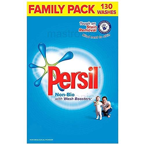 Persil - Detergente para lavar la ropa en polvo, tamaño familiar, 130 lavados, limpia las manchas difíciles incluso en un lavado rápido 8.385 kg