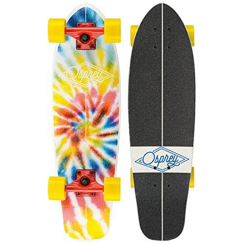 Osprey Unisex Singolo kicktail Complete Skateboard Cruiser, Bambino, Mini...