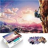 Juguetes de rompecabezas para adultos y niños Mini 1000Pcs Equipo de escalada Zelda Dungeon School Entertainment 38x26cm Rompecabezas de papel
