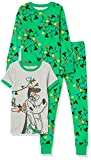 Spotted Zebra Disney Star Wars Marvel Snug-Fit Cotton Pajamas Sleepwear Pajama-Sets, Pluto Urlaubslichter, 4-5 Jahre