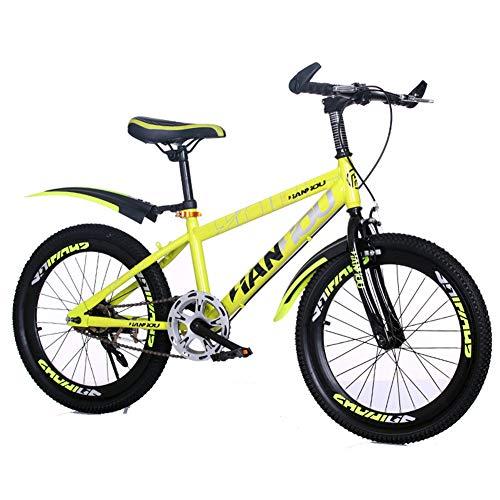 WGXQY Kindermountainbike, 20 inch/22 inch/24 inch, met schokdemping, dubbele rem, 8-16 jaar oud, jongens en meisjes