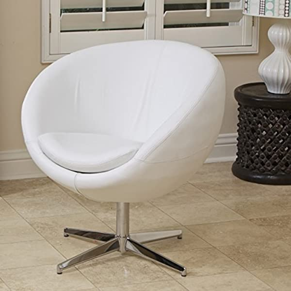 Christopher Knight Home 211698 Sphera Modern Design White Accent Chair