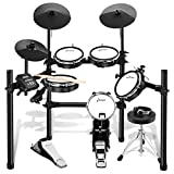Donner DED-200 Electric Drum Set Electronic Kit with Mesh Head 8 Piece, Drum Throne, Sticks Headphone and Audio Cable Included, More Stable...
