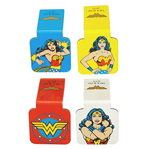 "Ata-Boy DC Comics Wonder Woman Set of 4 1"" Magnetic Page-Top Bookmarks"