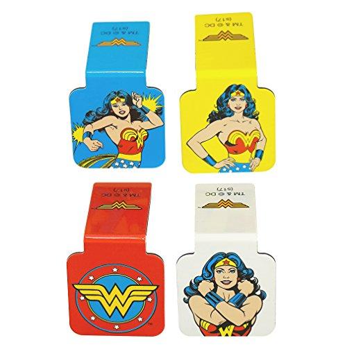 Ata-Boy DC Comics Wonder Woman Set of 4 1' Magnetic Page-Top Bookmarks
