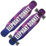 QUNHU Planche à roulettes Longboard, 43 Pouces 8 Couches d'érable Canadien à Travers longboards pour Enfants garçons Filles Jeunesse débutants (Color : Starry Sky 01)